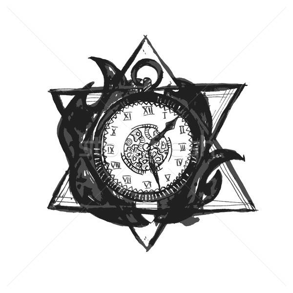 Vector Burning Time Watch Stock photo © Anna_leni