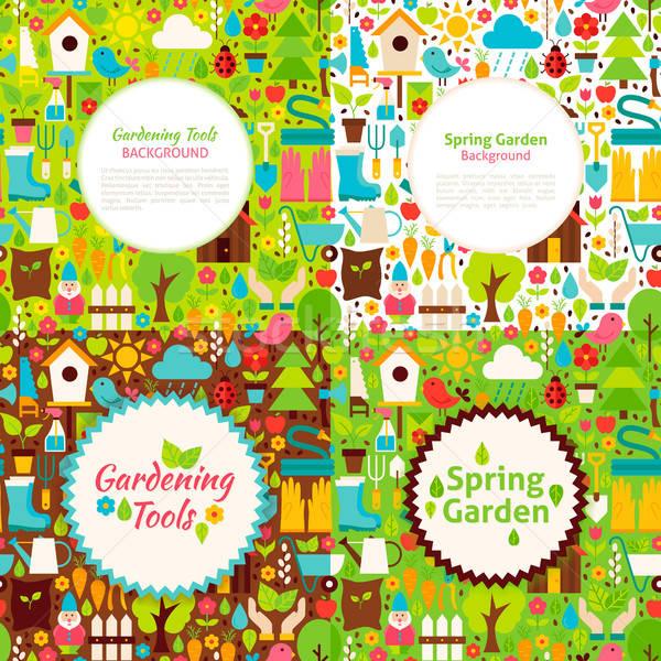 Bahçe bahar kartpostallar doğa bahçıvanlık tanıtım Stok fotoğraf © Anna_leni