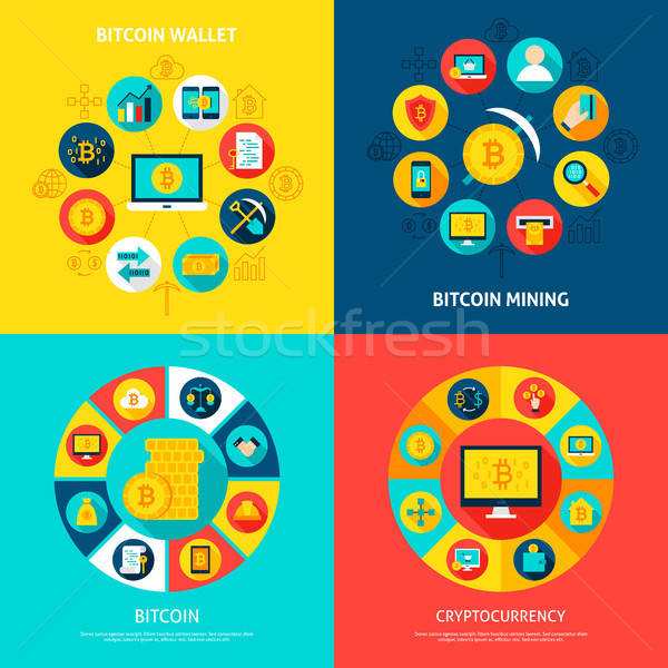 Bitcoin Concepts Set Stock photo © Anna_leni