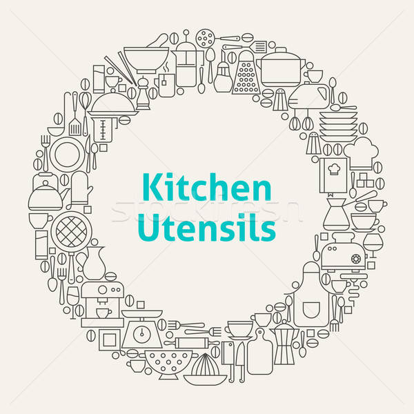 Stockfoto: Keuken · lijn · kunst · cirkel