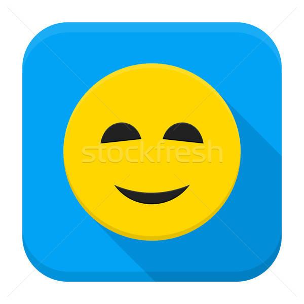Сток-фото: улыбаясь · желтый · приложение · икона · стиль