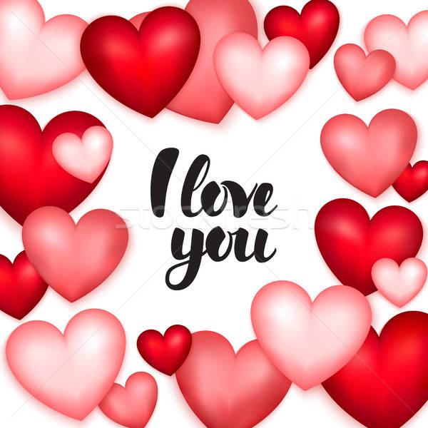 сердцах любви Валентин день искусства Сток-фото © Anna_leni