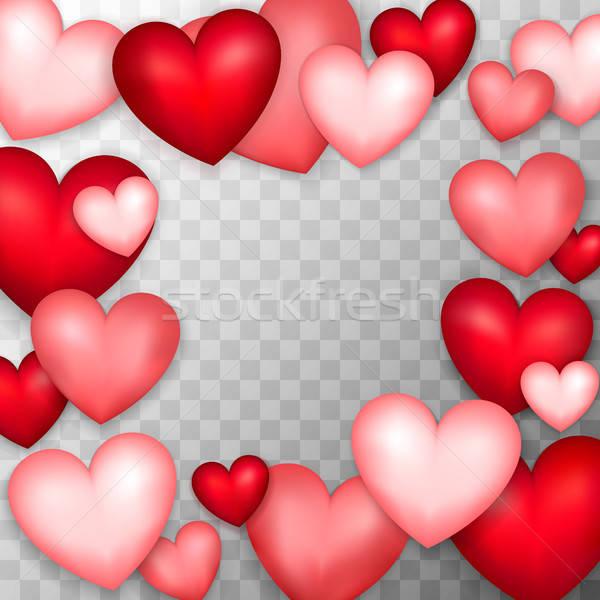 Many Hearts Transparent Background Stock photo © Anna_leni