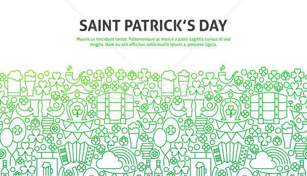 Aziz gün hat web tasarım afiş şablon Stok fotoğraf © Anna_leni