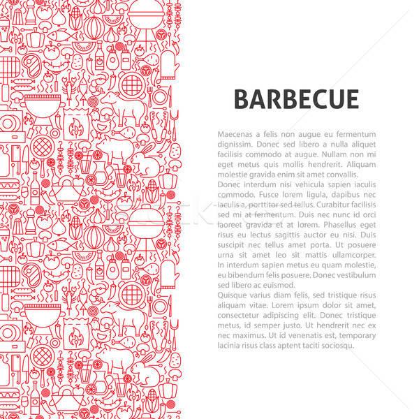 Barbecue Line Pattern Concept Stock photo © Anna_leni