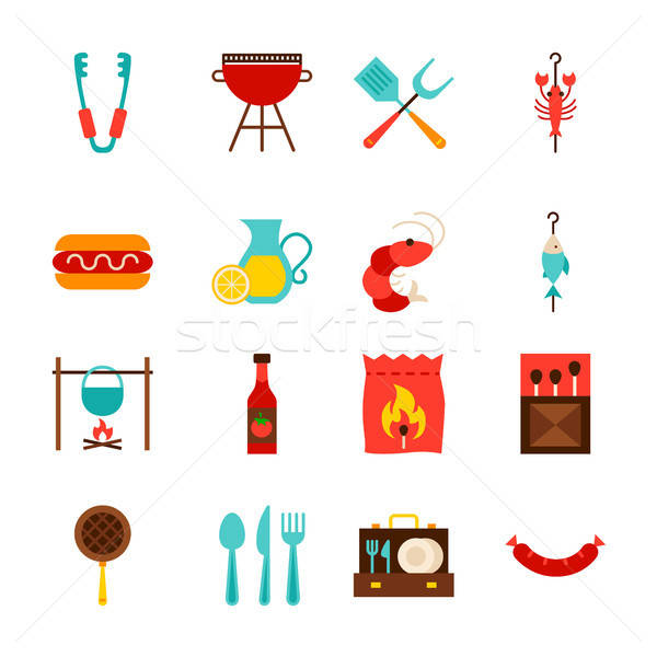 BBQ Party Objects Stock photo © Anna_leni