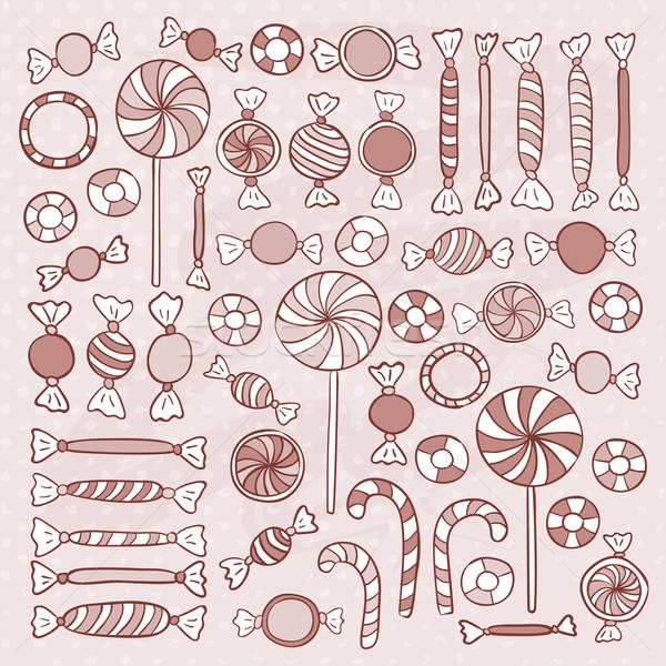 эскиз конфеты конфеты рисованной объекты набор Сток-фото © Anna_leni