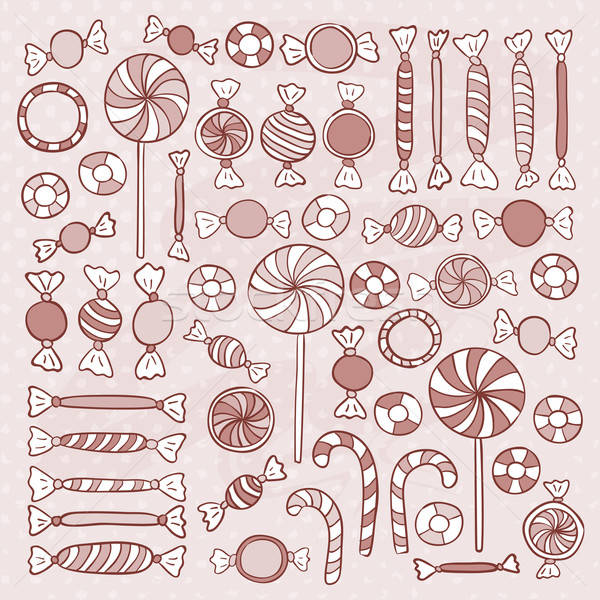 Boceto dulces dibujado a mano objetos establecer Foto stock © Anna_leni