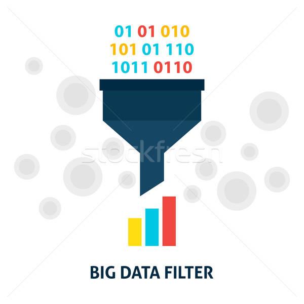 Büyük veri filtre stil analiz Stok fotoğraf © Anna_leni