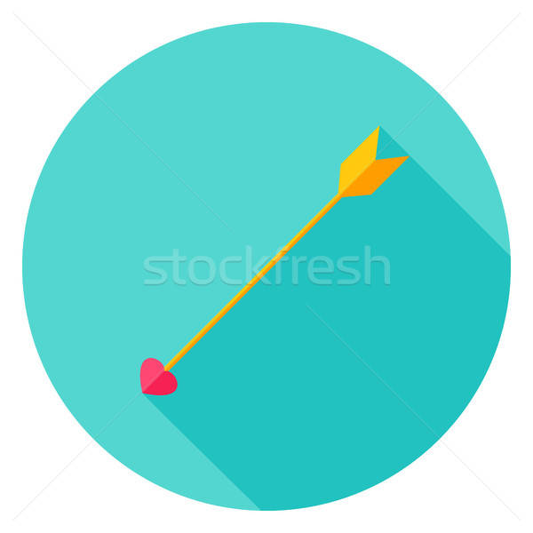 Love Arrow Circle Icon Stock photo © Anna_leni