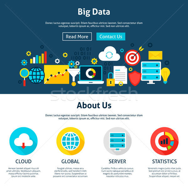 Big Data Website Design Stock photo © Anna_leni