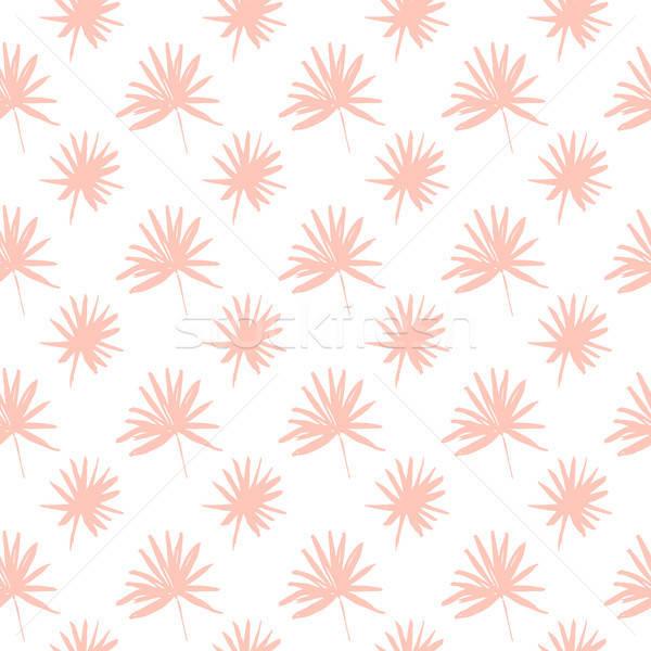 Stock photo: Palm Tree Leaf Seamless Pattern