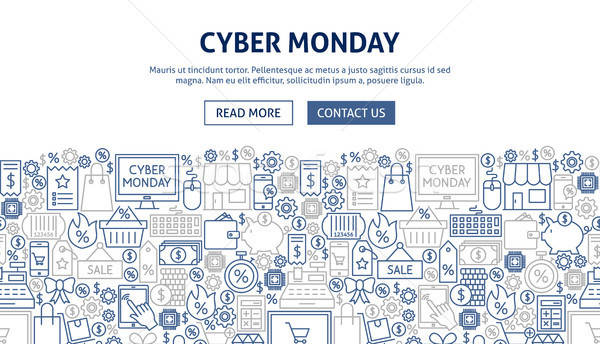 Cyber Monday Banner Design Stock photo © Anna_leni