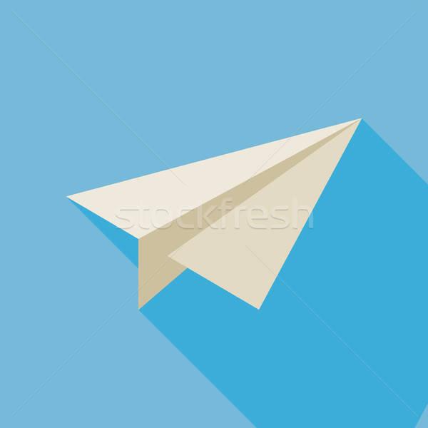 внештатно бумаги плоскости иллюстрация долго тень Сток-фото © Anna_leni
