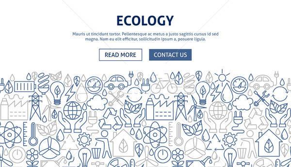 écologie bannière design ligne web affaires Photo stock © Anna_leni