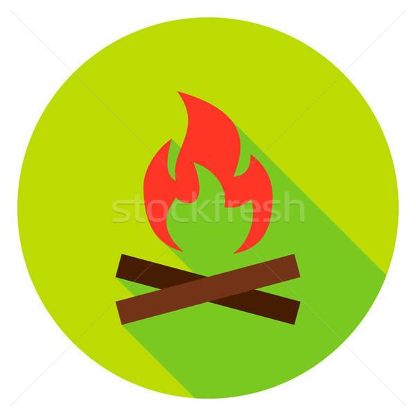 Campfire Circle Icon Stock photo © Anna_leni