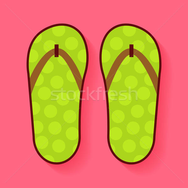Flat Summer Shoes Flip Flops Stock photo © Anna_leni