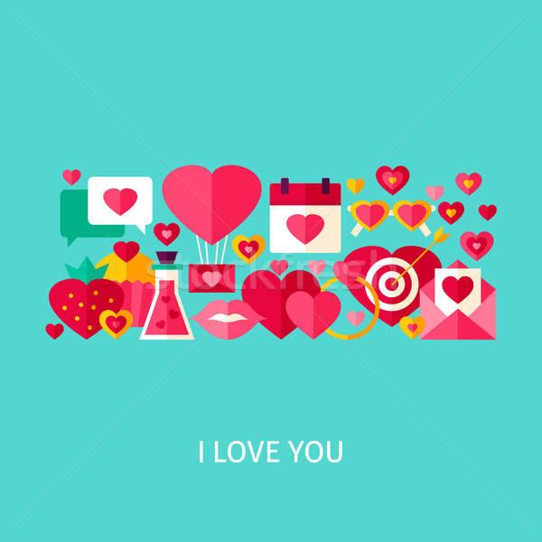I Love You Greeting Concept Stock photo © Anna_leni