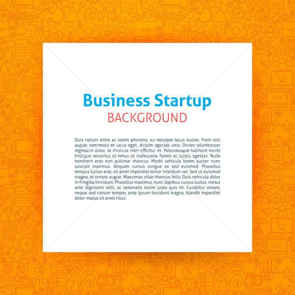 Avvio carta modello contorno design business Foto d'archivio © Anna_leni