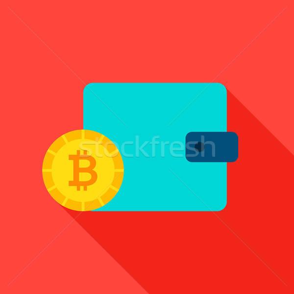 Bitcoinの 財布 アイコン 長い 影 ビジネス ストックフォト © Anna_leni