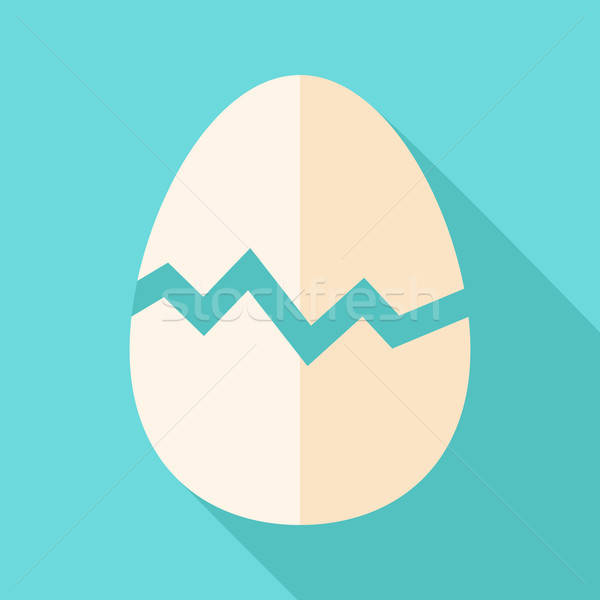 ストックフォト: 壊れた · 卵 · 定型化された · 実例 · 影 · イースター
