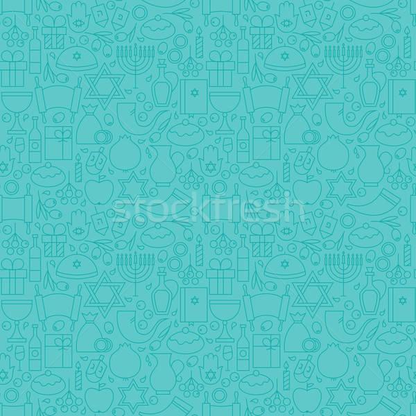 Dun vakantie lijn gelukkig Blauw Stockfoto © Anna_leni