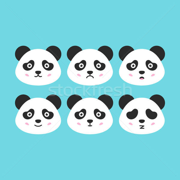 Foto stock: Panda · faces · bonitinho · animal · sorrir