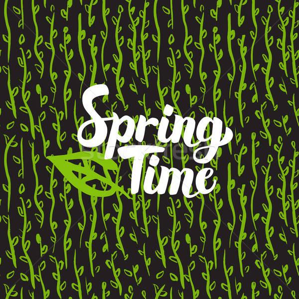 Spring Time Hand Drawn Card Stock photo © Anna_leni