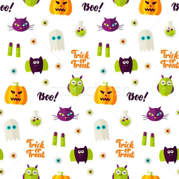 Boo Halloween Seamless Pattern Stock photo © Anna_leni