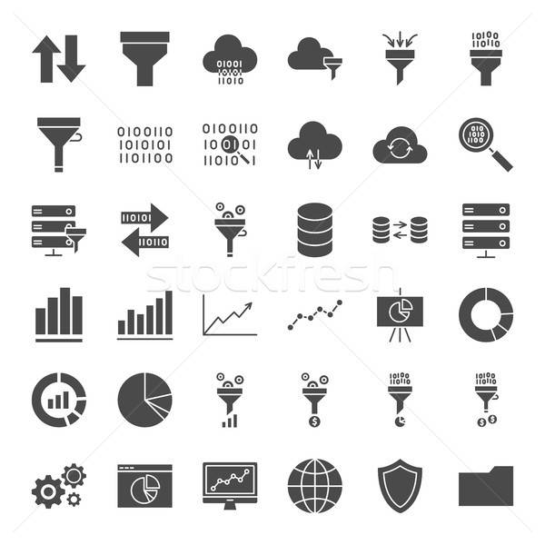 Filter Solid Web Icons Stock photo © Anna_leni