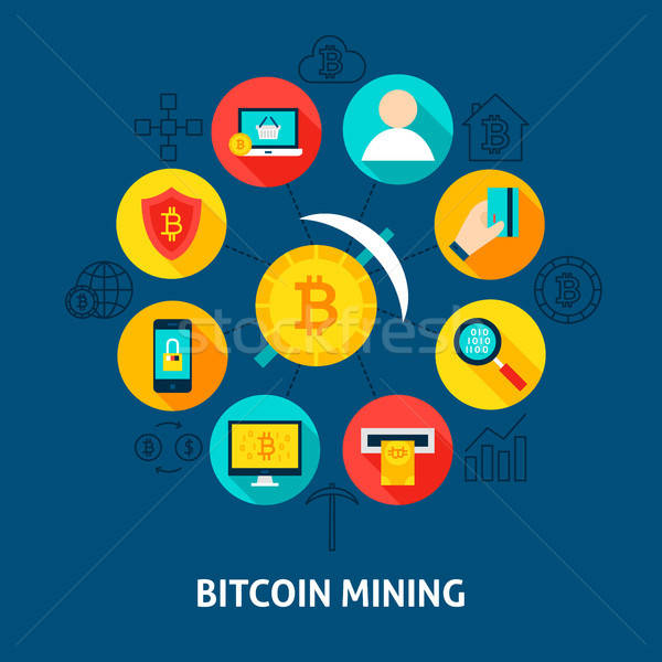 Bitcoin Mining Concept Stock photo © Anna_leni