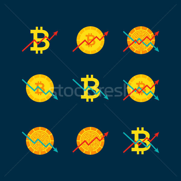 Cryptocurrency Up Down Graph Stock photo © Anna_leni