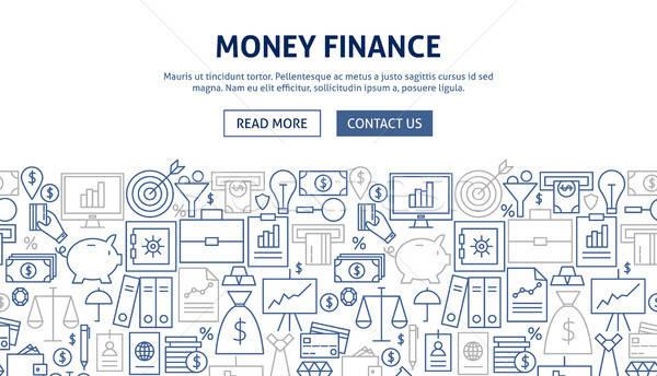 Pénz pénzügy szalag terv vonal háló Stock fotó © Anna_leni