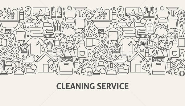 Cleaning Service Banner Concept Stock photo © Anna_leni