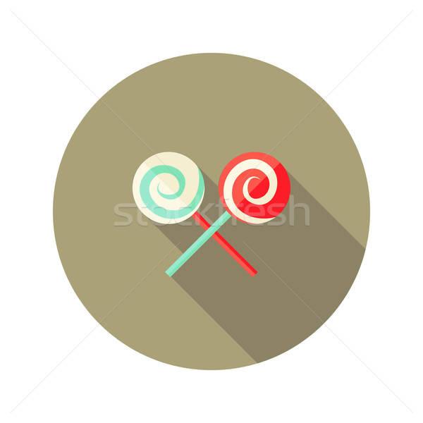 Navidad espiral dulces palo icono vacaciones Foto stock © Anna_leni