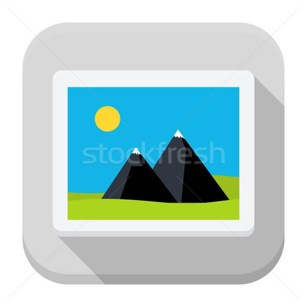 изображение приложение икона долго тень квадратный Сток-фото © Anna_leni