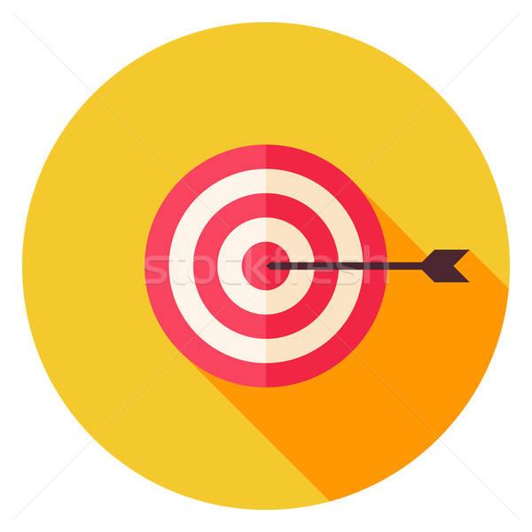 Aim with Arrow Circle Icon Stock photo © Anna_leni
