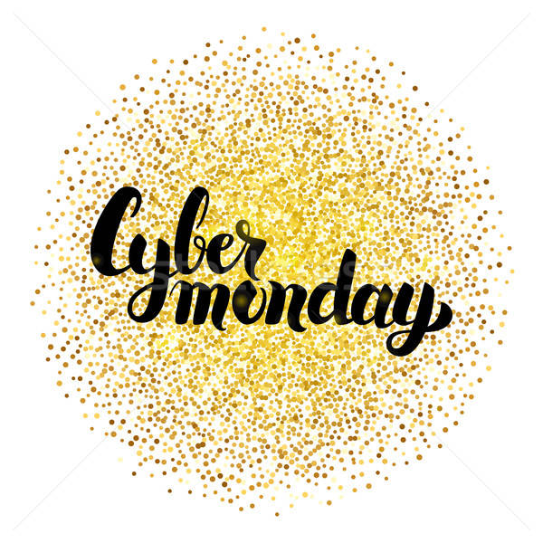 Cyber Monday Lettering over Gold Stock photo © Anna_leni