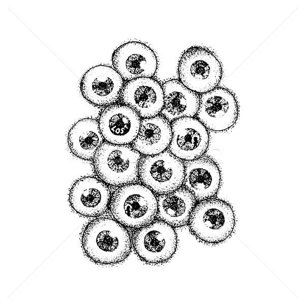 Dotwork Human Eyeballs Stock photo © Anna_leni
