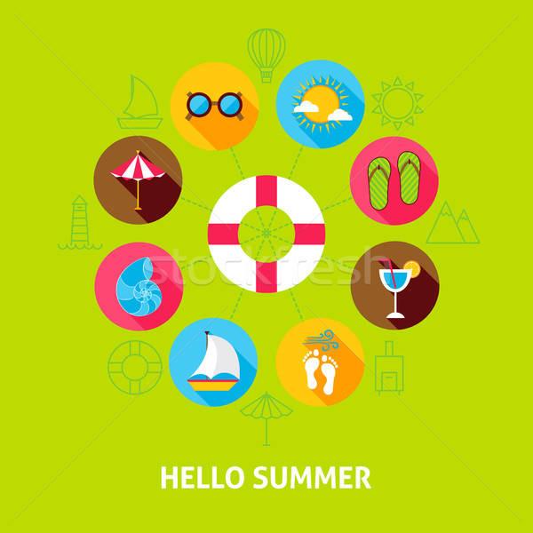 Hello Summer Concept Stock photo © Anna_leni