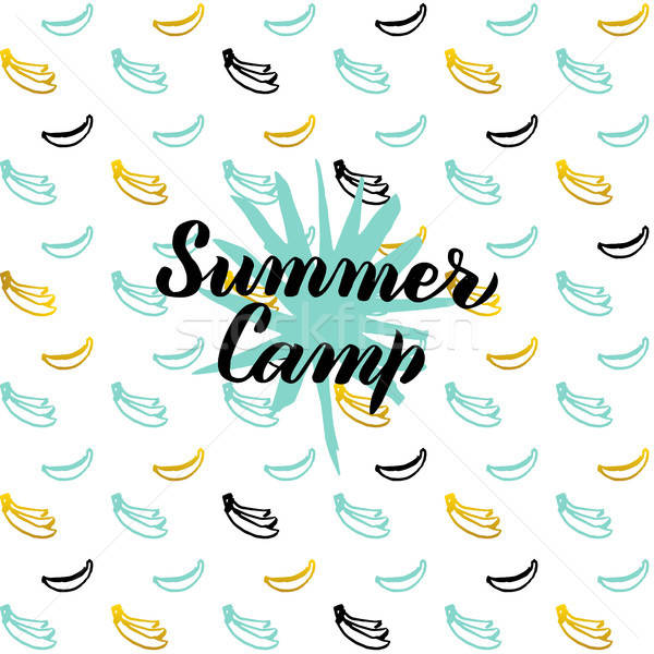 Summer Camp Postcard Design Stock photo © Anna_leni