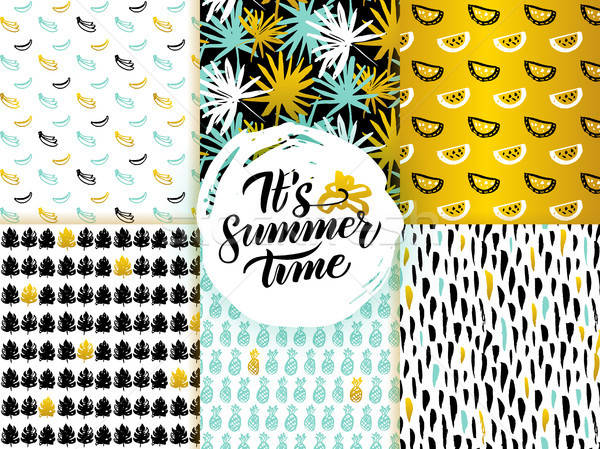 Summer Time Seamless Patterns Stock photo © Anna_leni