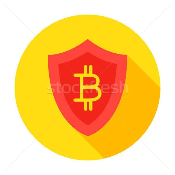 Bitcoin Secure Circle Icon Stock photo © Anna_leni