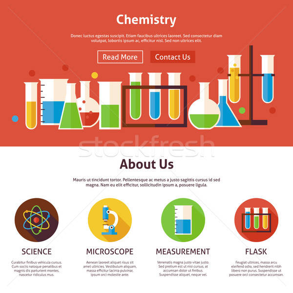Chemie wetenschap web design sjabloon website banner Stockfoto © Anna_leni