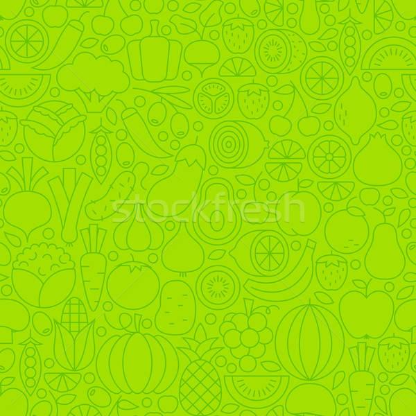 Сток-фото: тонкий · линия · зеленый · есть · здорового · плитка