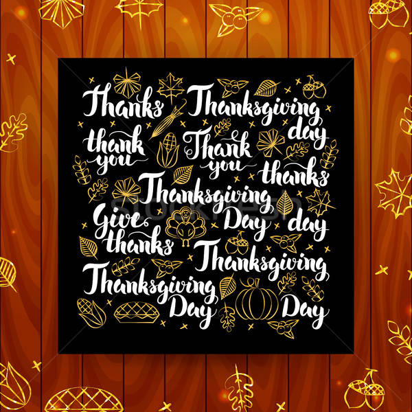 Thanksgiving Greeting Calligraphy Stock photo © Anna_leni