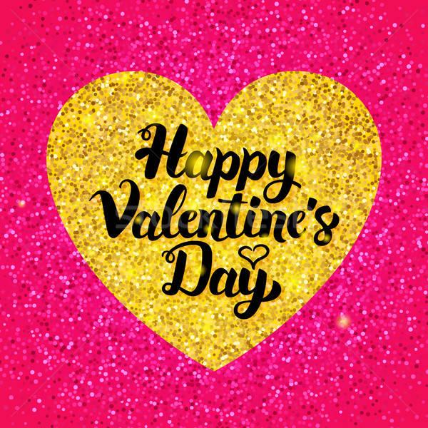Boldog valentin nap csillámlás terv szeretet üdvözlet Stock fotó © Anna_leni