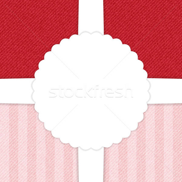 Jeans red and light pink greeting card Stock photo © Anna_leni