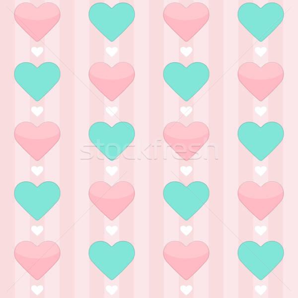De rosa corações amor coração Foto stock © Anna_leni