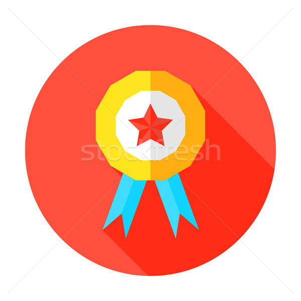 Grade A or Above Flat Circle Icon Stock photo © Anna_leni